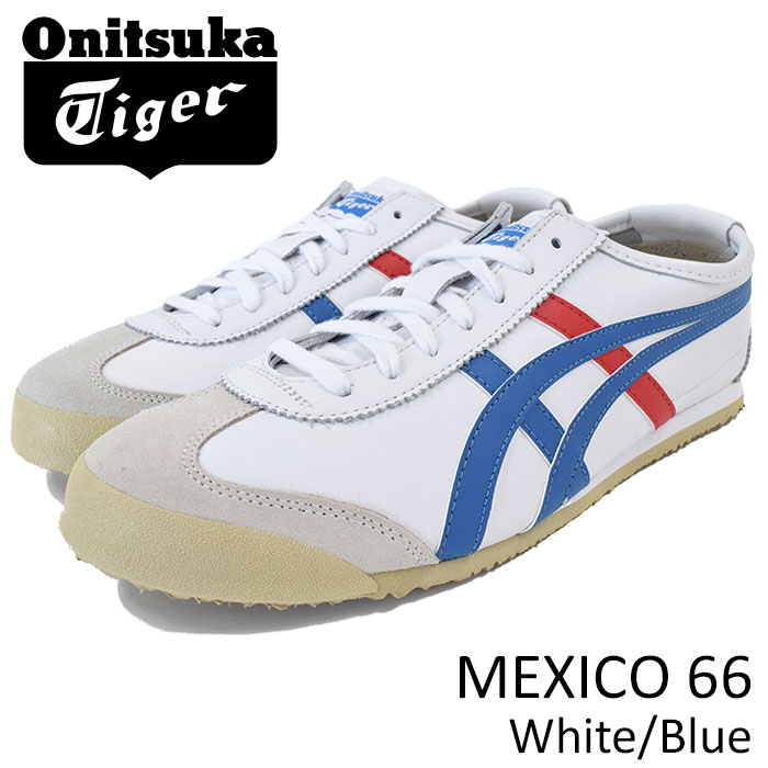 outlet store 91657 cacb1 Mexican 66 White/Blue(Onitsuka Tiger MEXICO 66 white white SNEAKER MENS,  shoes shoes SHOES DL408-0146) ice filed icefield for the Onitsuka tiger ...
