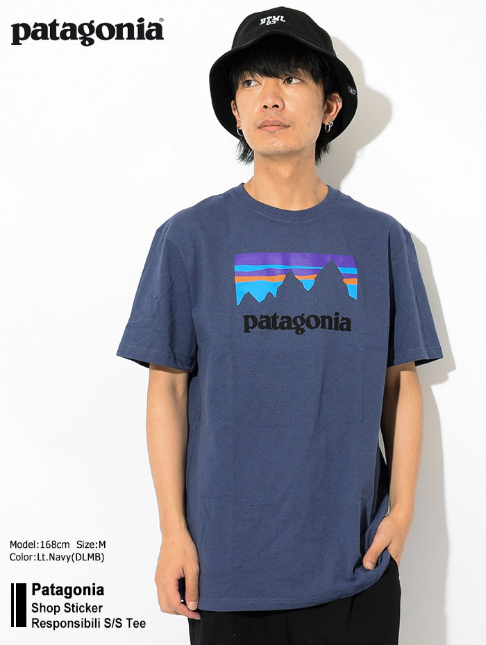 PatagoniaパタゴニアのTシャツ Shop Sticker Responsibili01