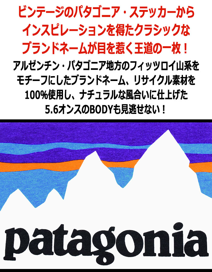 PatagoniaパタゴニアのTシャツ Shop Sticker Responsibili02
