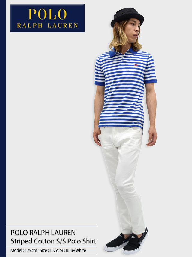 POLO RALPH LAURENポロラルフローレンのポロシャツ Striped Cotton01