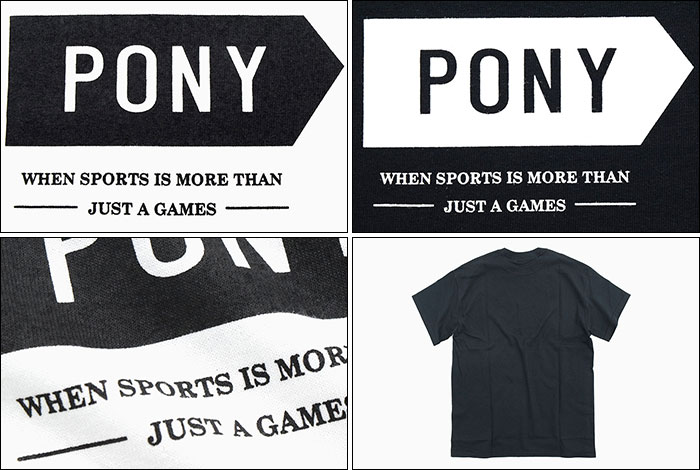 PONYポニーのTシャツ Just A Games04