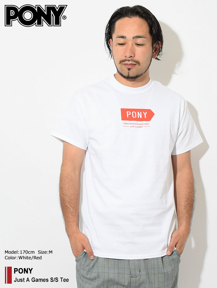 PONYポニーのTシャツ Just A Games01