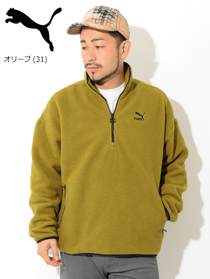 PUMAプーマのジャケット Winter Classics Half Zip Fleece06