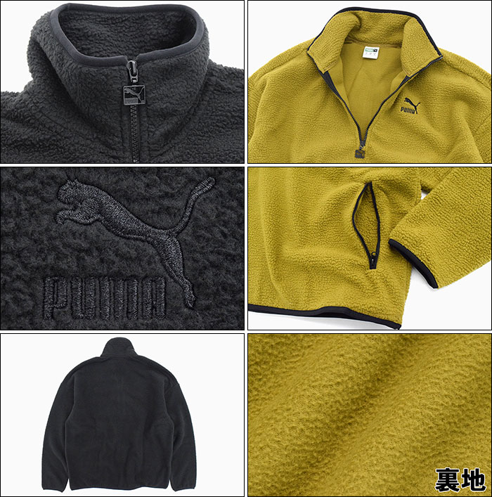PUMAプーマのジャケット Winter Classics Half Zip Fleece08