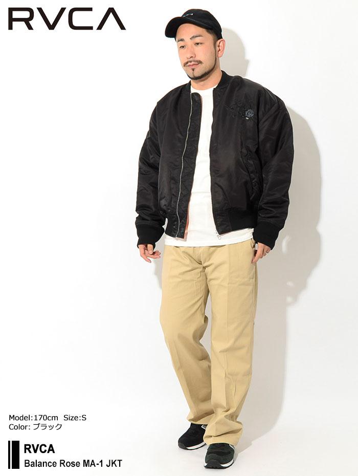 RVCAルーカのジャケット Balance Rose MA-1 01