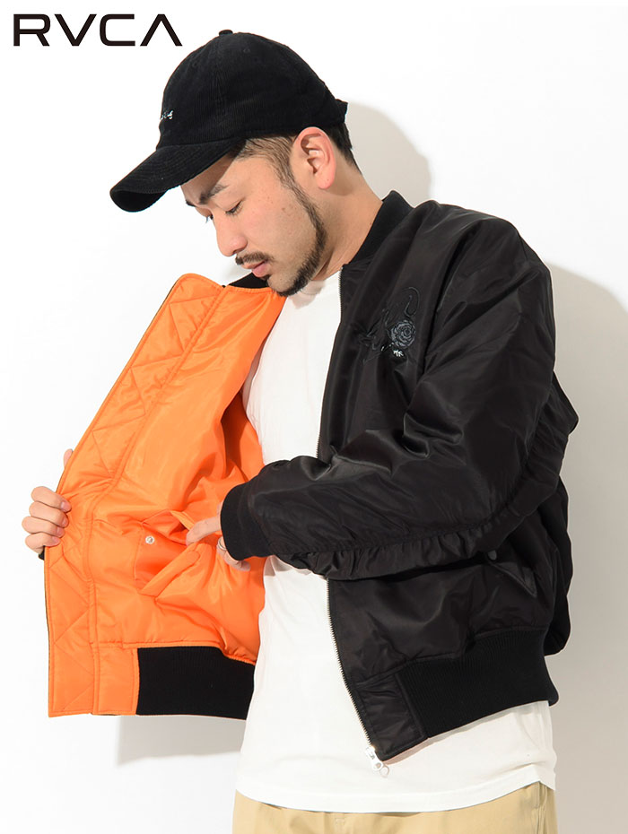 RVCAルーカのジャケット Balance Rose MA-1 03