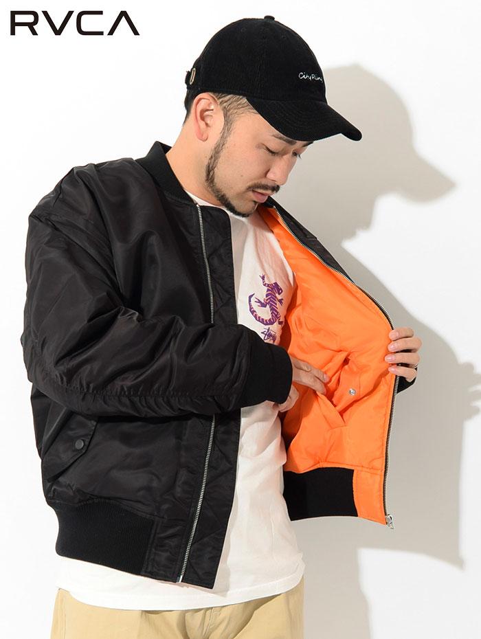 RVCAルーカのジャケット Balance Rose MA-1 04
