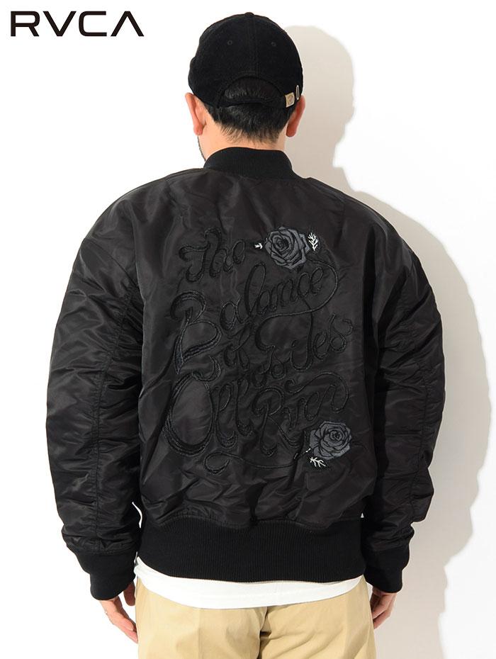 RVCAルーカのジャケット Balance Rose MA-1 05