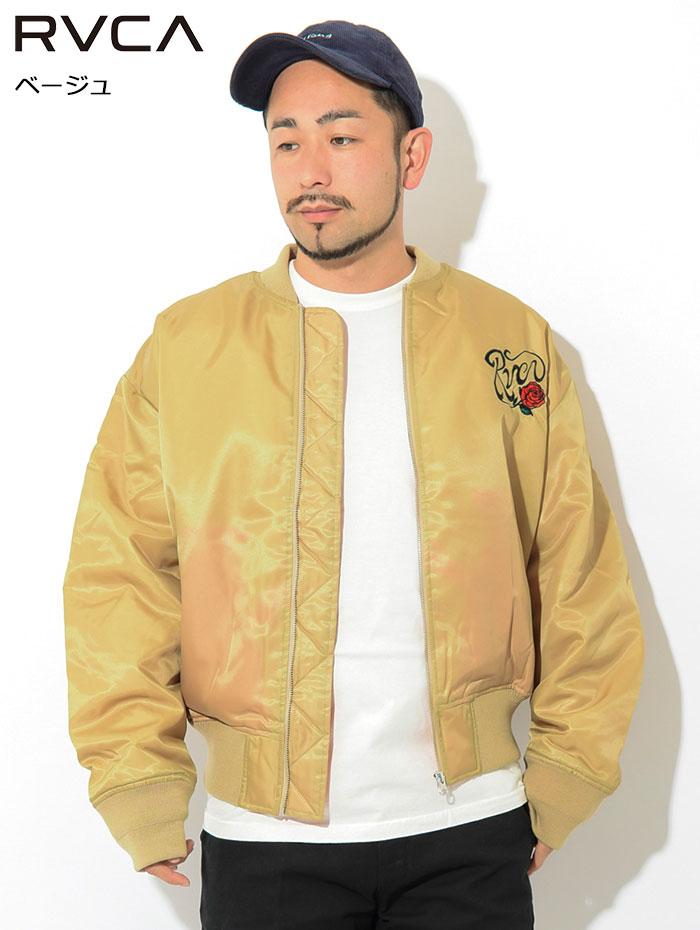 RVCAルーカのジャケット Balance Rose MA-1 06