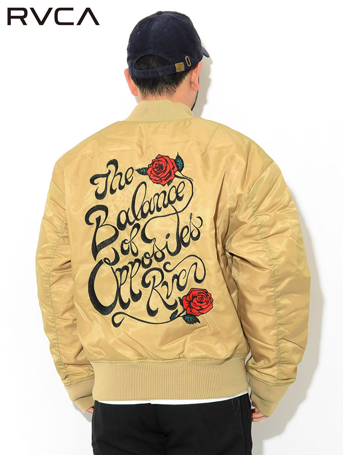 RVCAルーカのジャケット Balance Rose MA-1 07