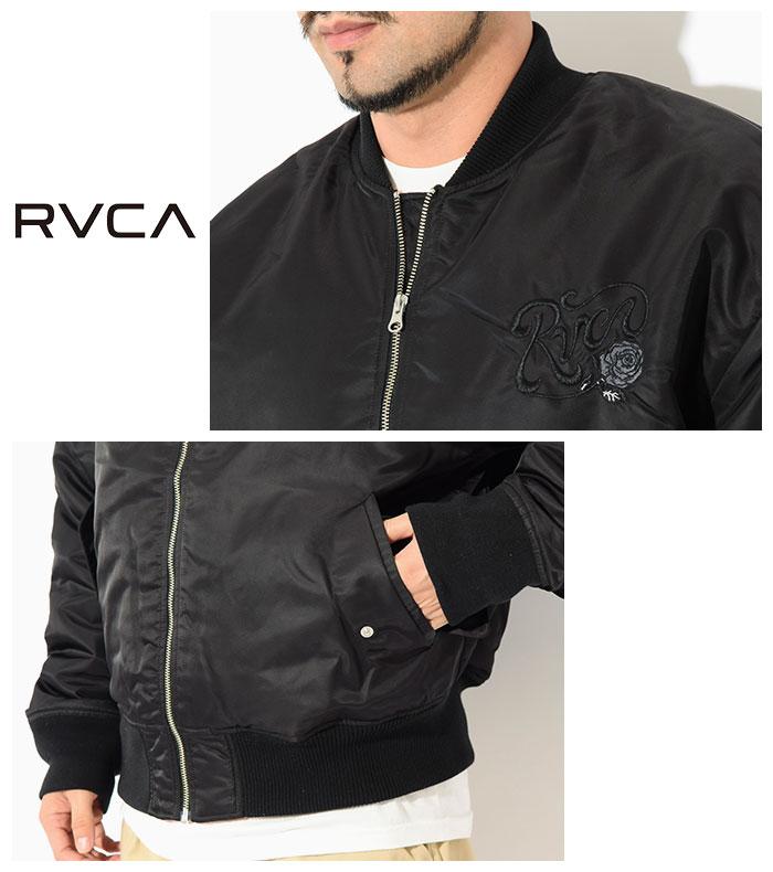 RVCAルーカのジャケット Balance Rose MA-1 08