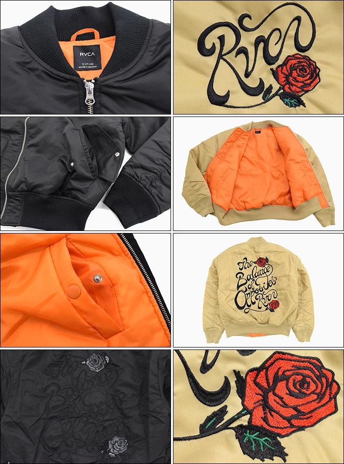 RVCAルーカのジャケット Balance Rose MA-1 09
