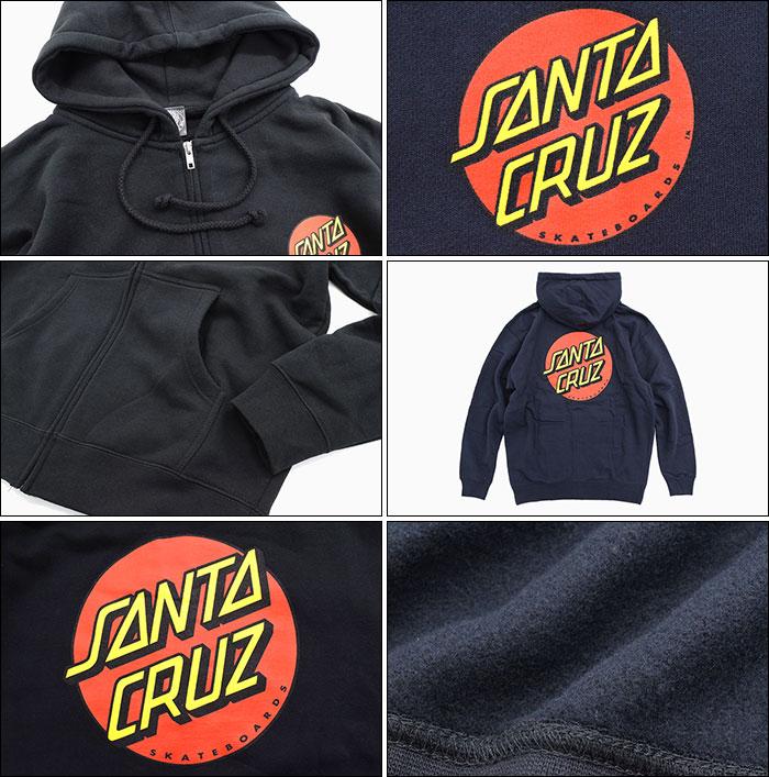 SANTA CRUZサンタクルーズのパーカー Classic Dot Full Zip Hoodie03