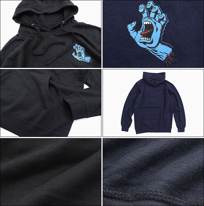 SANTA CRUZサンタクルーズのパーカー Screaming Mini Hand Pullover Hoodie02