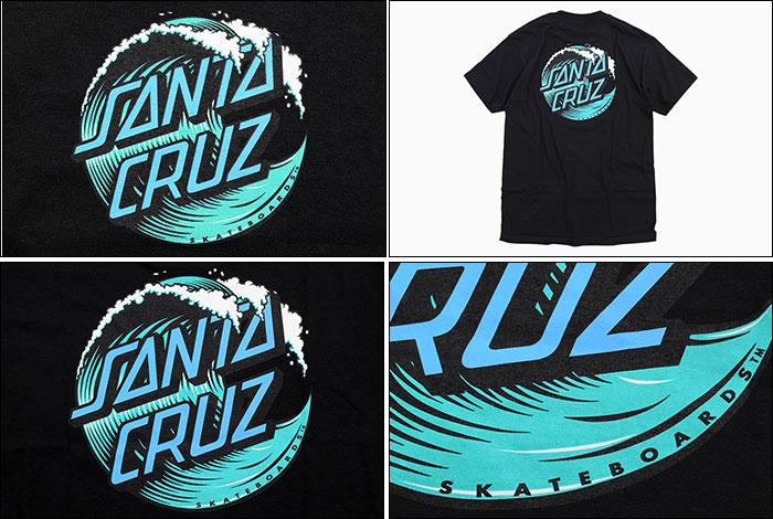 SANTA CRUZサンタクルーズのTシャツ Wave Dot03