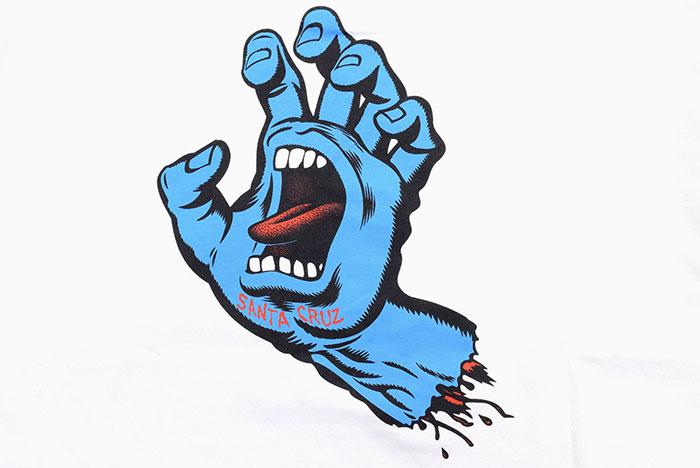 SANTA CRUZサンタクルーズのTシャツ Screaming Hand09