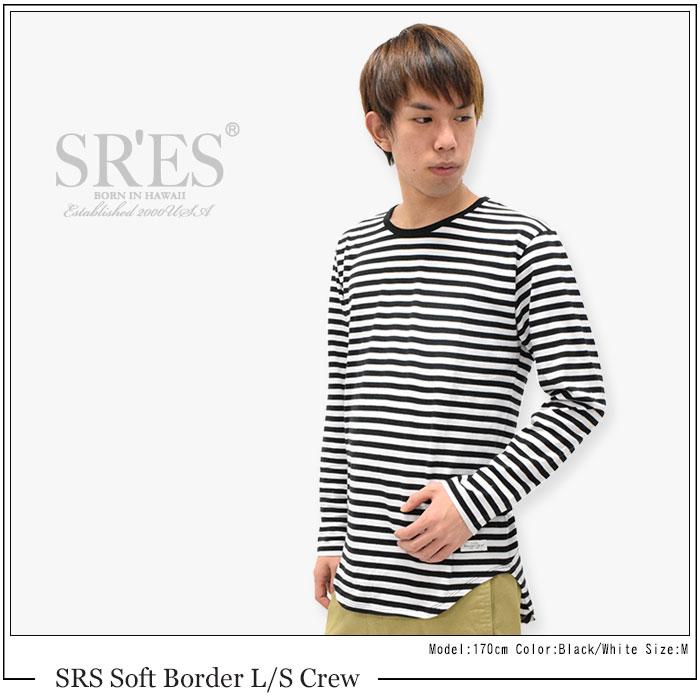 SRSエスアールエスのカットソー Soft Border02