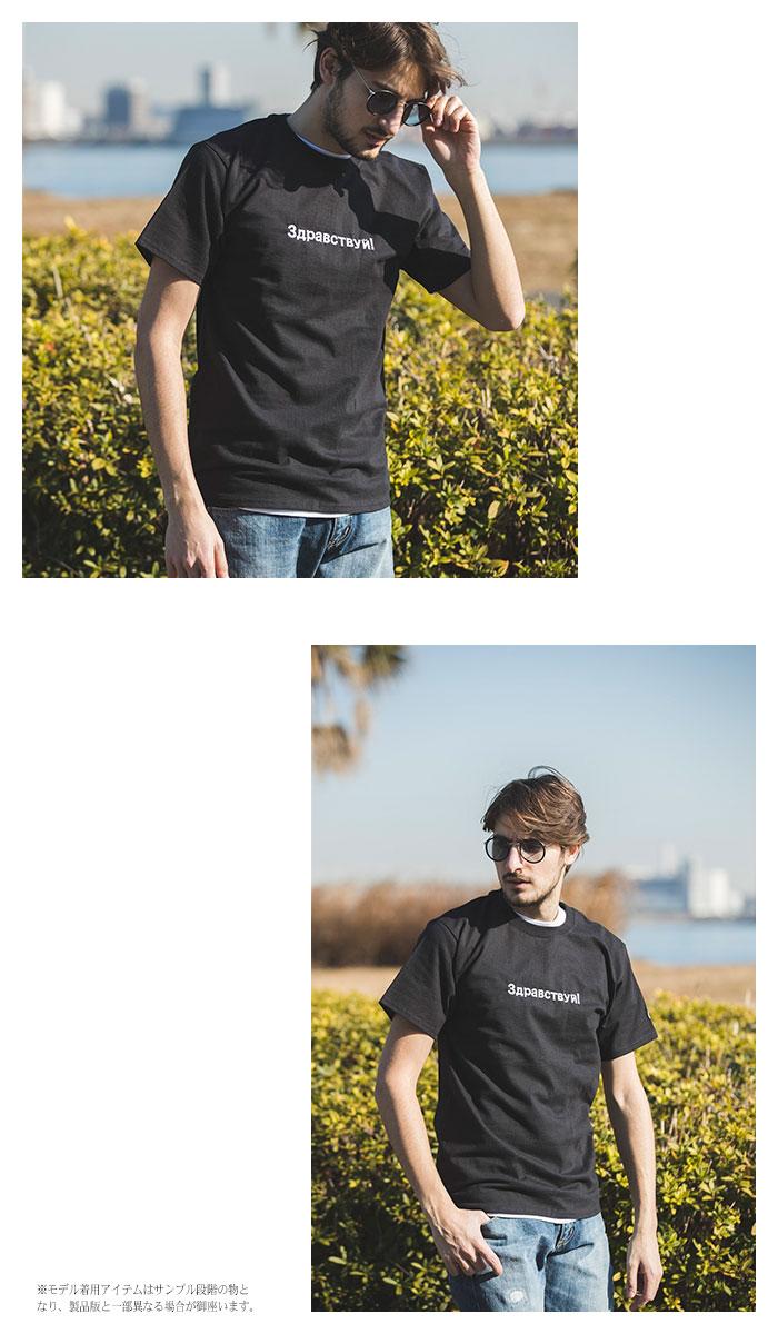 SRSエスアールエスのTシャツ Champion Embroider Russian01