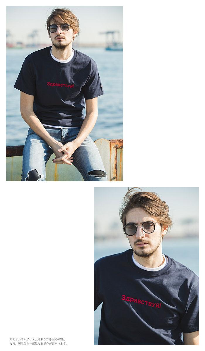 SRSエスアールエスのTシャツ Champion Embroider Russian02