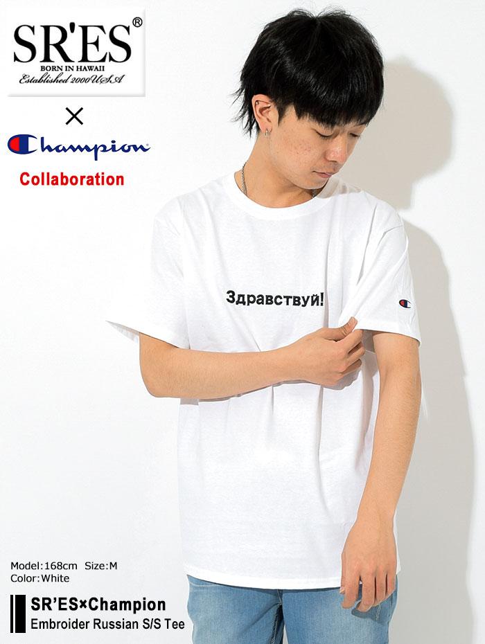 SRSエスアールエスのTシャツ Champion Embroider Russian03