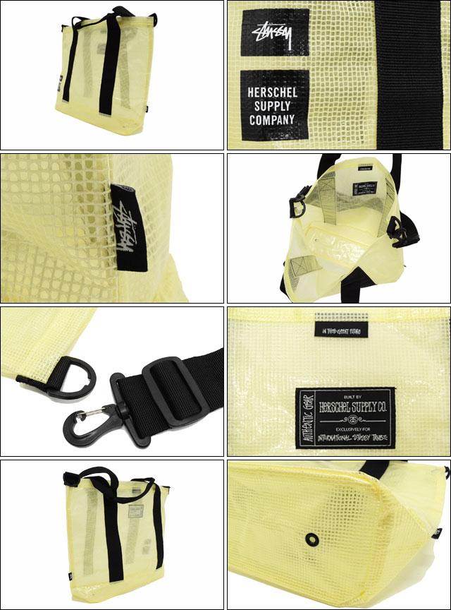 STUSSYステューシーのベルト ハーシェル Clear Yellow Tarpaulin02