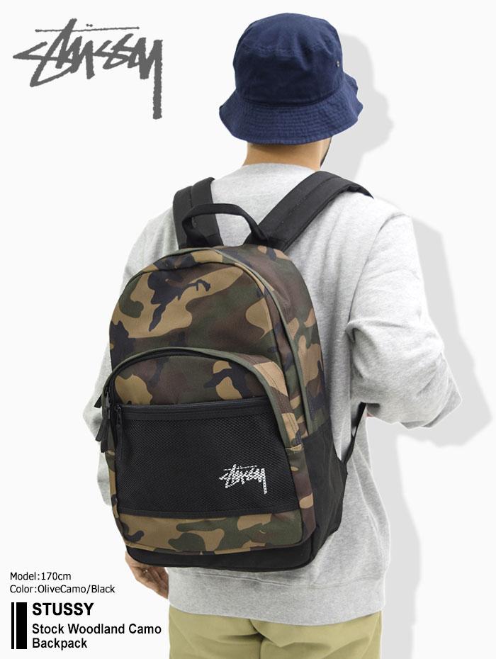 STUSSYステューシーのリュック Stock Woodland Camo Backpack01