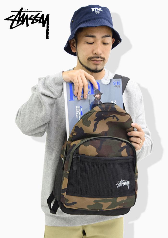 STUSSYステューシーのリュック Stock Woodland Camo Backpack02