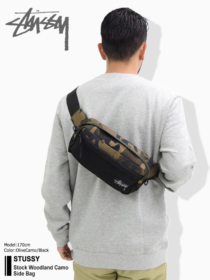 STUSSYステューシーのウエストバッグ Stock Woodland Camo Side Bag01