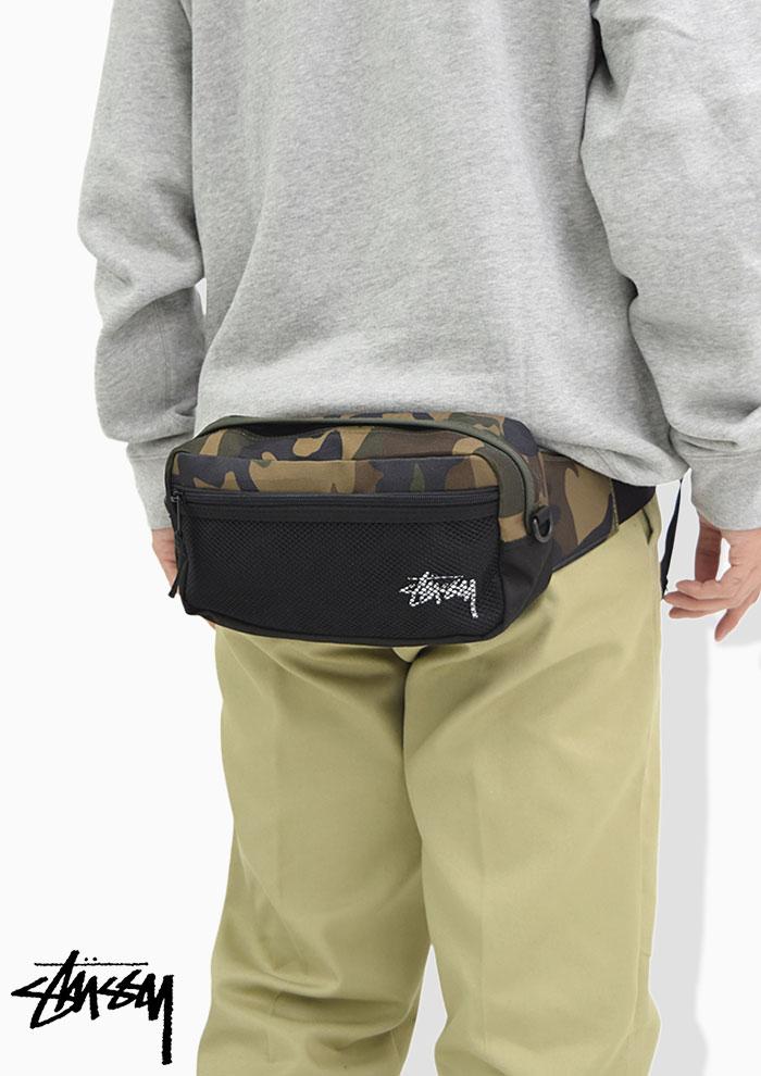STUSSYステューシーのウエストバッグ Stock Woodland Camo Side Bag02
