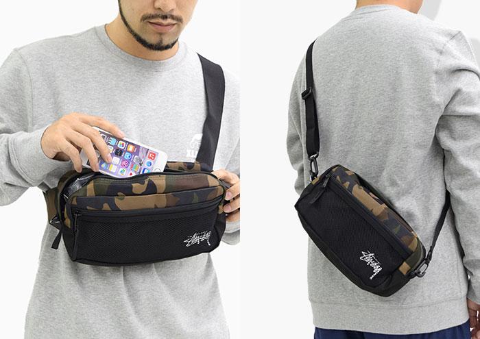STUSSYステューシーのウエストバッグ Stock Woodland Camo Side Bag03