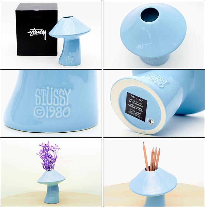 STUSSYステューシーの花瓶 Mushroom Ceramic Vase02