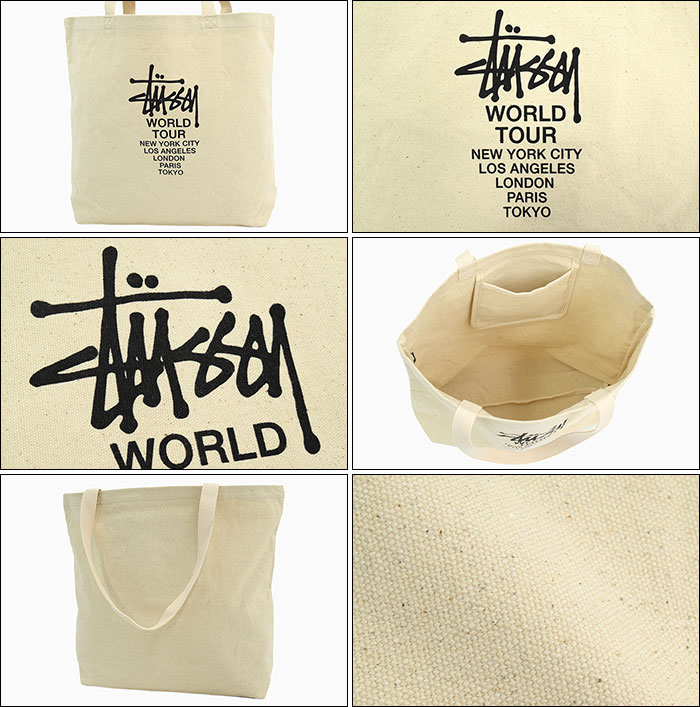 STUSSYステューシーのトートバッグ Canvas Tour Tote Bag03