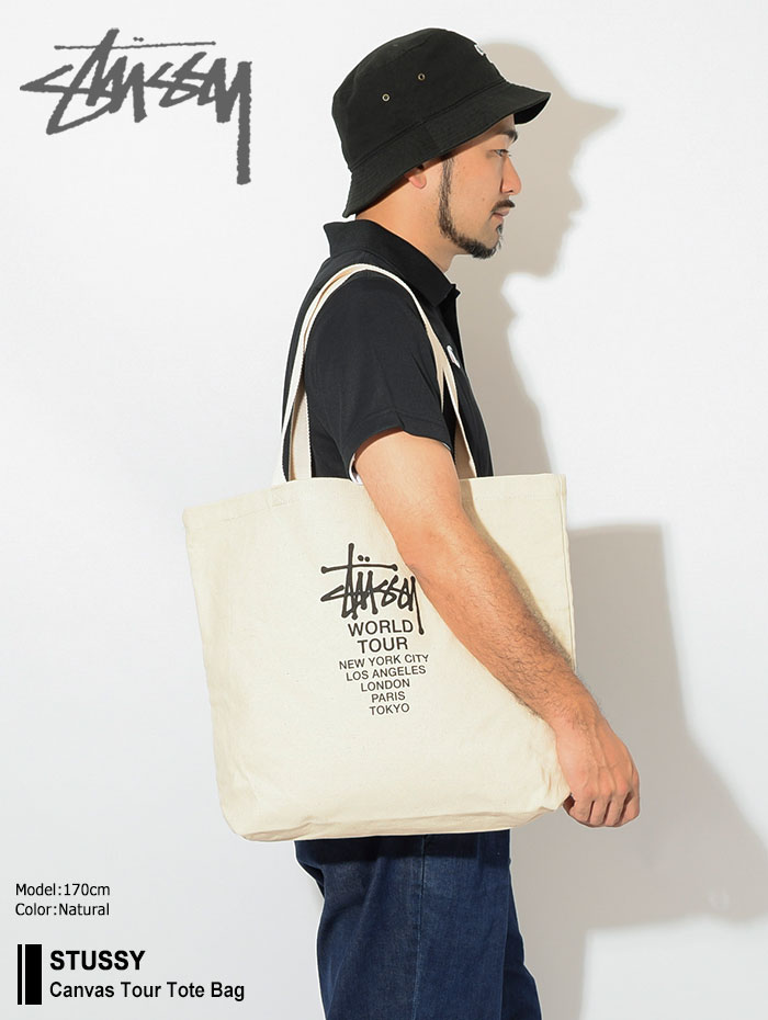 STUSSYステューシーのトートバッグ Canvas Tour Tote Bag01