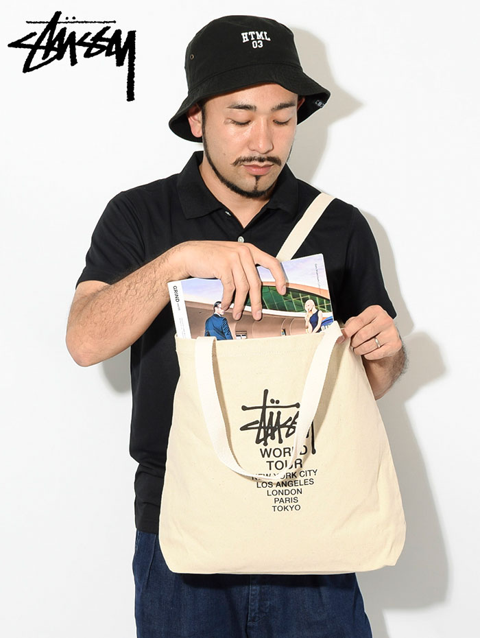 STUSSYステューシーのトートバッグ Canvas Tour Tote Bag02