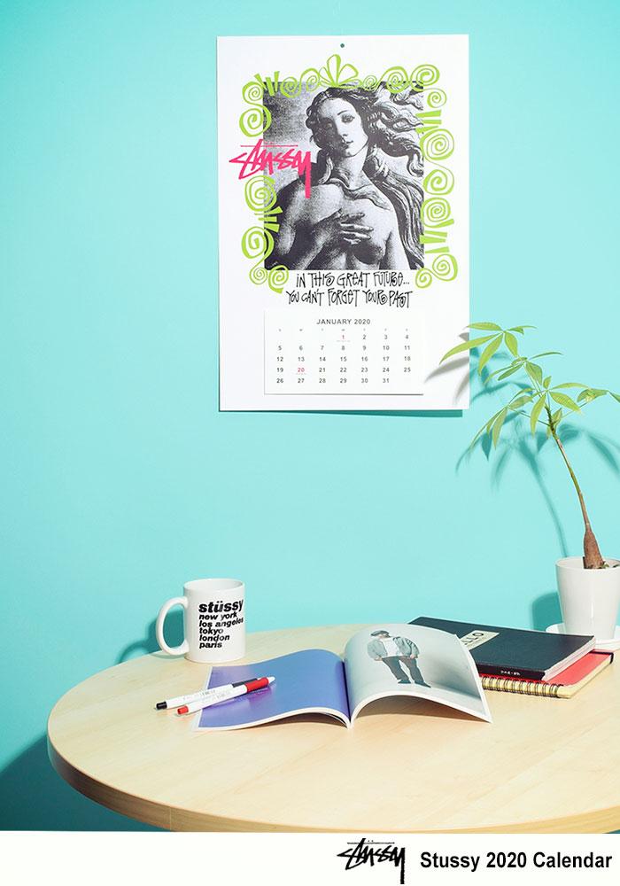 STUSSYステューシーのカレンダー Stussy 2020 Calendar01