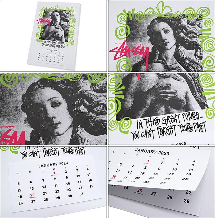 STUSSYステューシーのカレンダー Stussy 2020 Calendar02