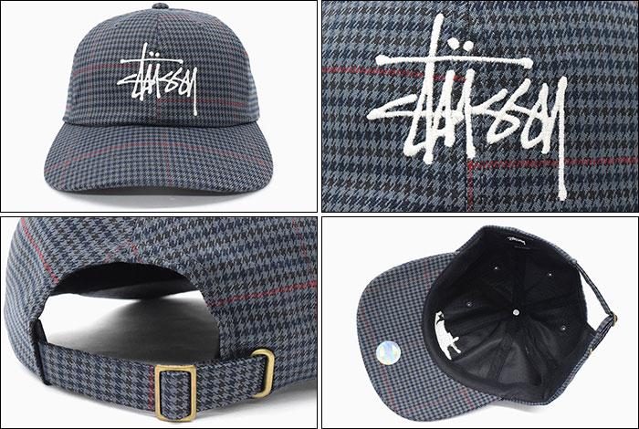 STUSSYステューシーのキャップ Big Logo Check Low Pro Cap02