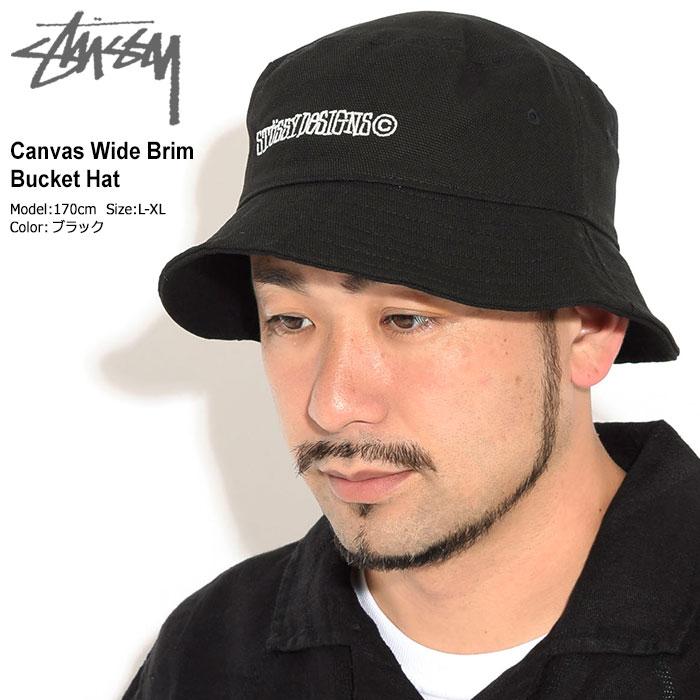 STUSSYステューシーのハット Canvas Wide Brim Bucket Hat01
