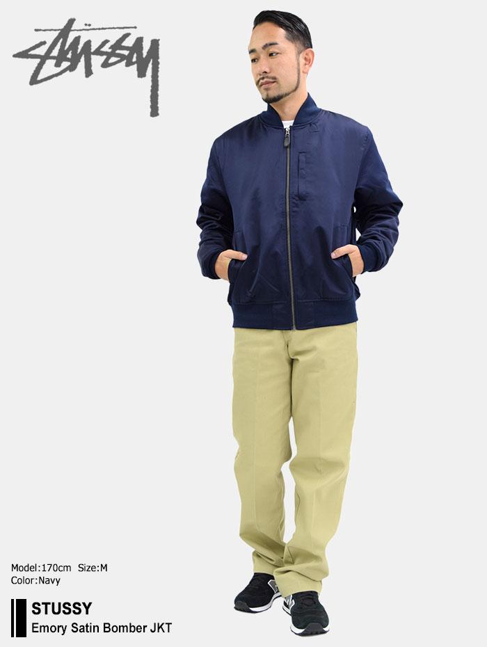 STUSSYステューシーのジャケット Emory Satin Bomber01