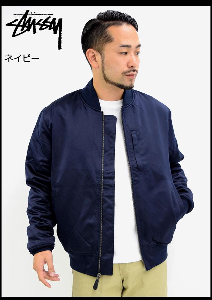 STUSSYステューシーのジャケット Emory Satin Bomber03