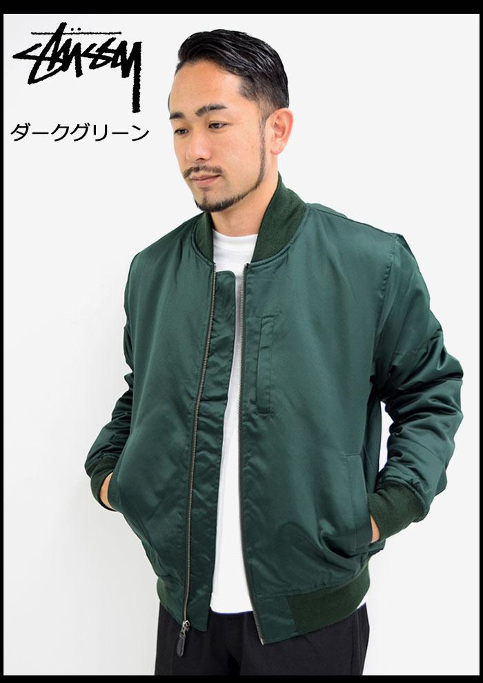 STUSSYステューシーのジャケット Emory Satin Bomber05
