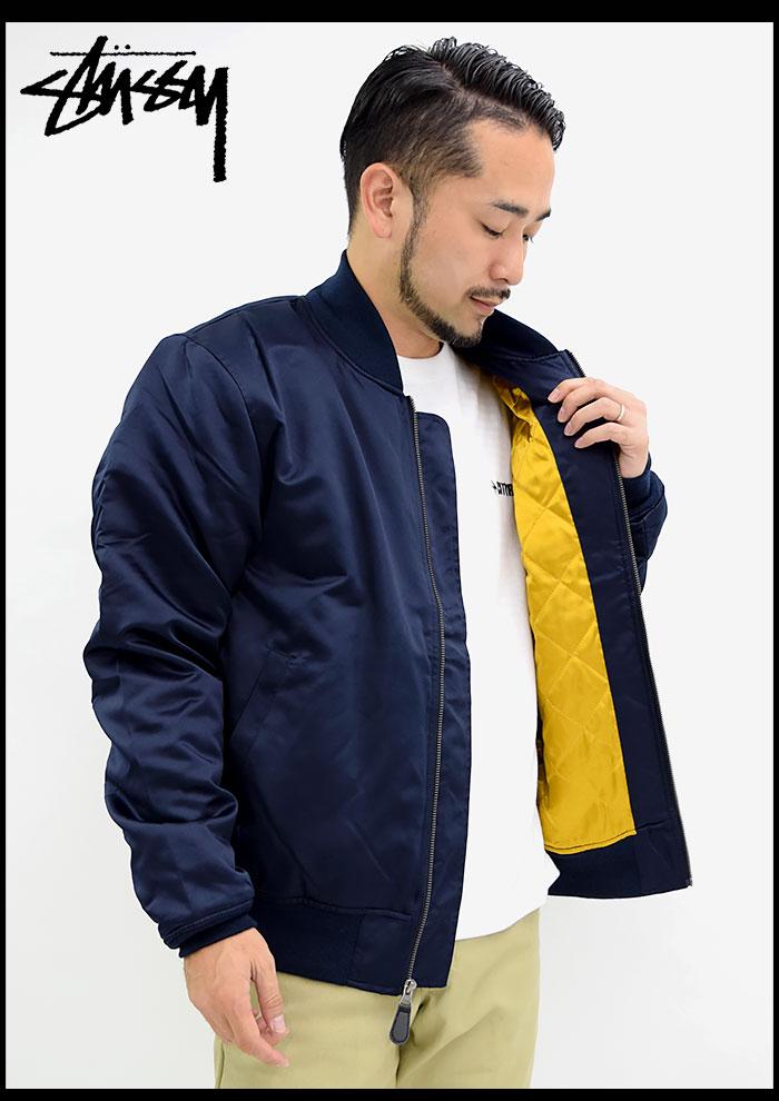 STUSSYステューシーのジャケット Emory Satin Bomber06