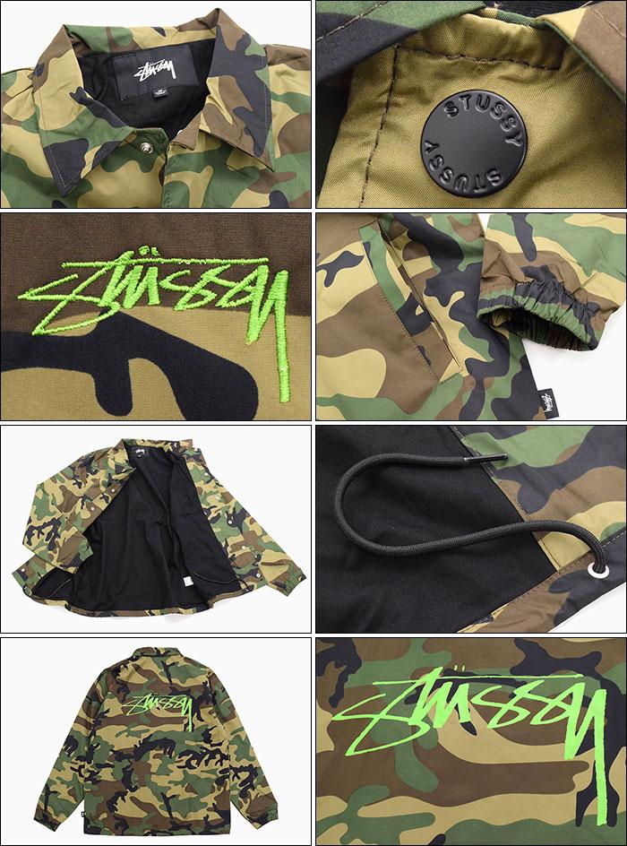 STUSSYステューシーのジャケット Camo Cruize Coach04