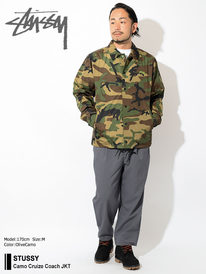 STUSSYステューシーのジャケット Camo Cruize Coach01
