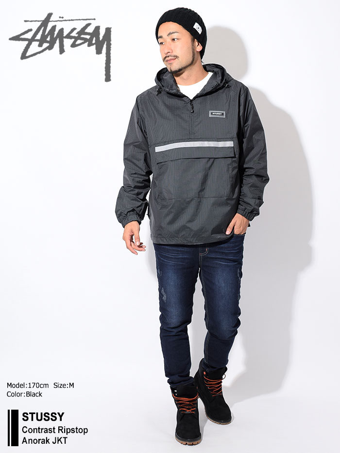 STUSSYステューシーのジャケット Contrast Ripstop Anorak01
