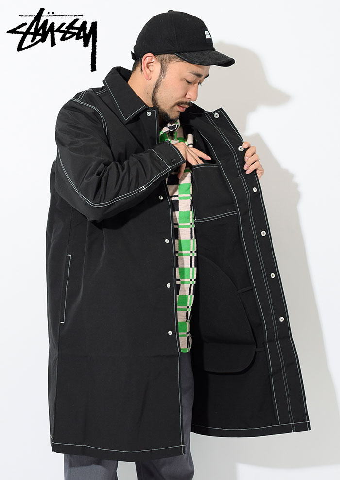 STUSSYステューシーのジャケット Nylon Shop Coat03