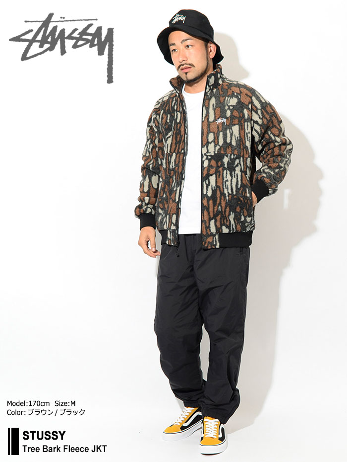 STUSSYステューシーのジャケット Tree Bark Fleece01