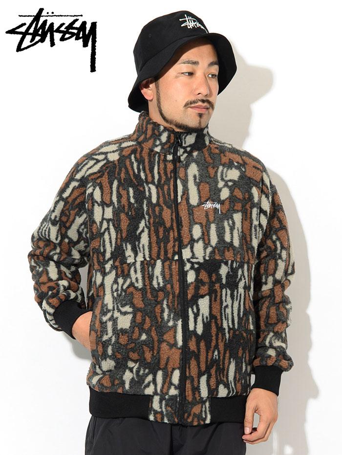 STUSSYステューシーのジャケット Tree Bark Fleece02