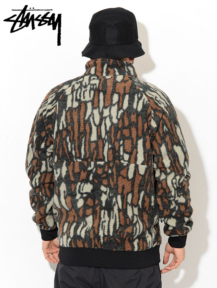 STUSSYステューシーのジャケット Tree Bark Fleece03