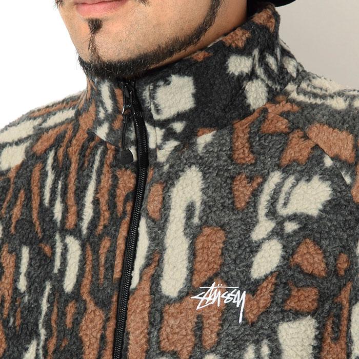 STUSSYステューシーのジャケット Tree Bark Fleece04